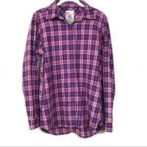 Burton pink purple flannel shirt with pockets